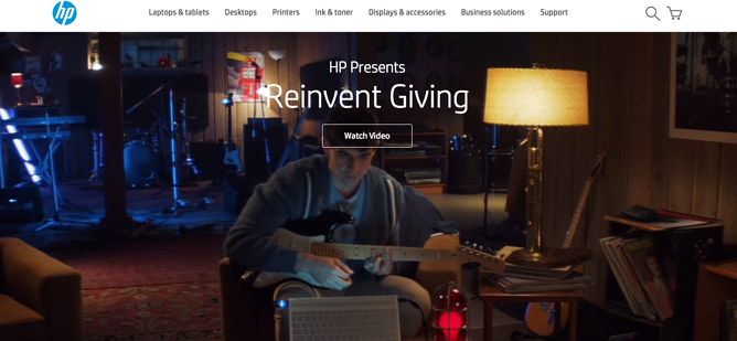 hp holiday homepage